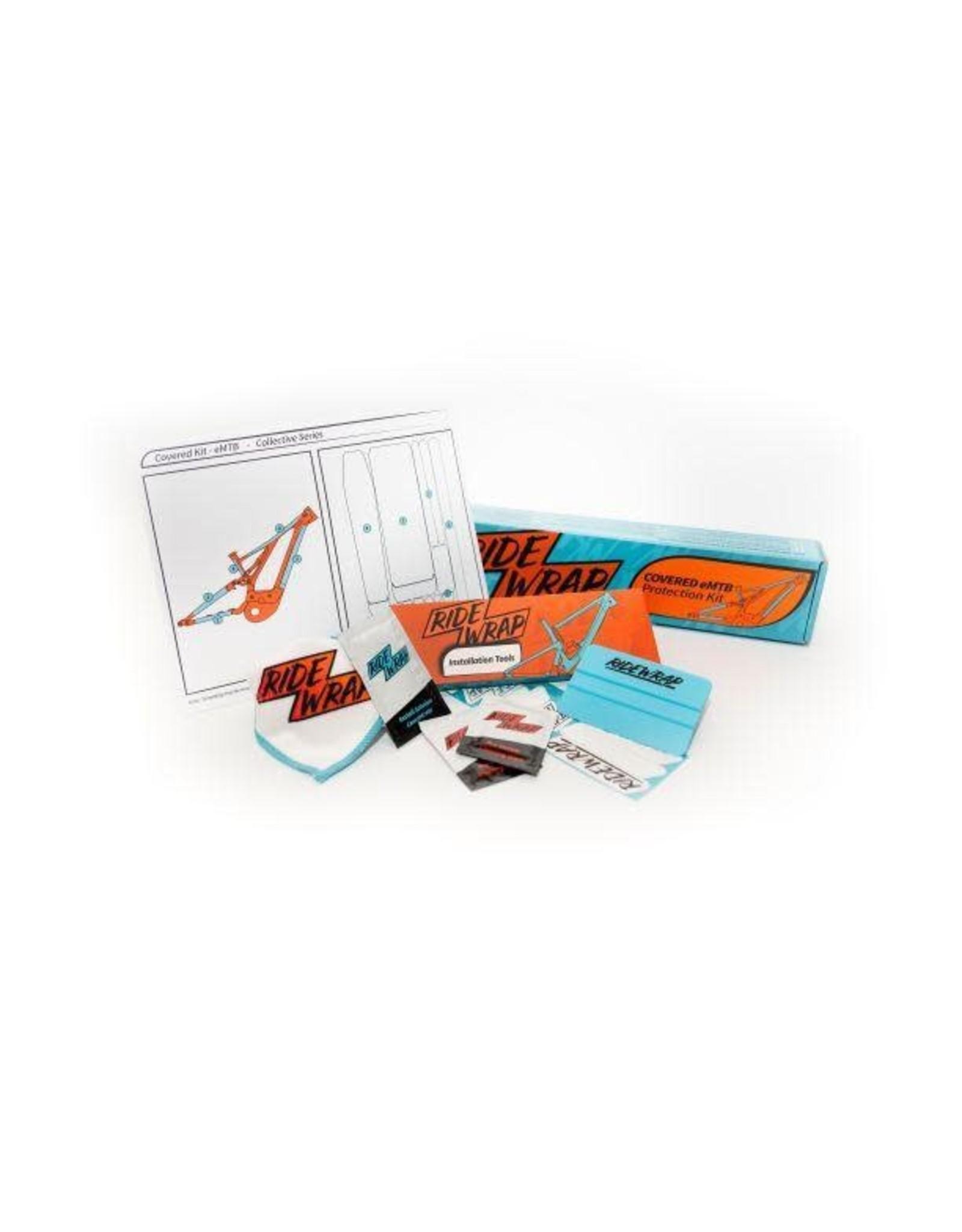 Ridewrap covered frame protection kit, MTB dual suspension, Matte