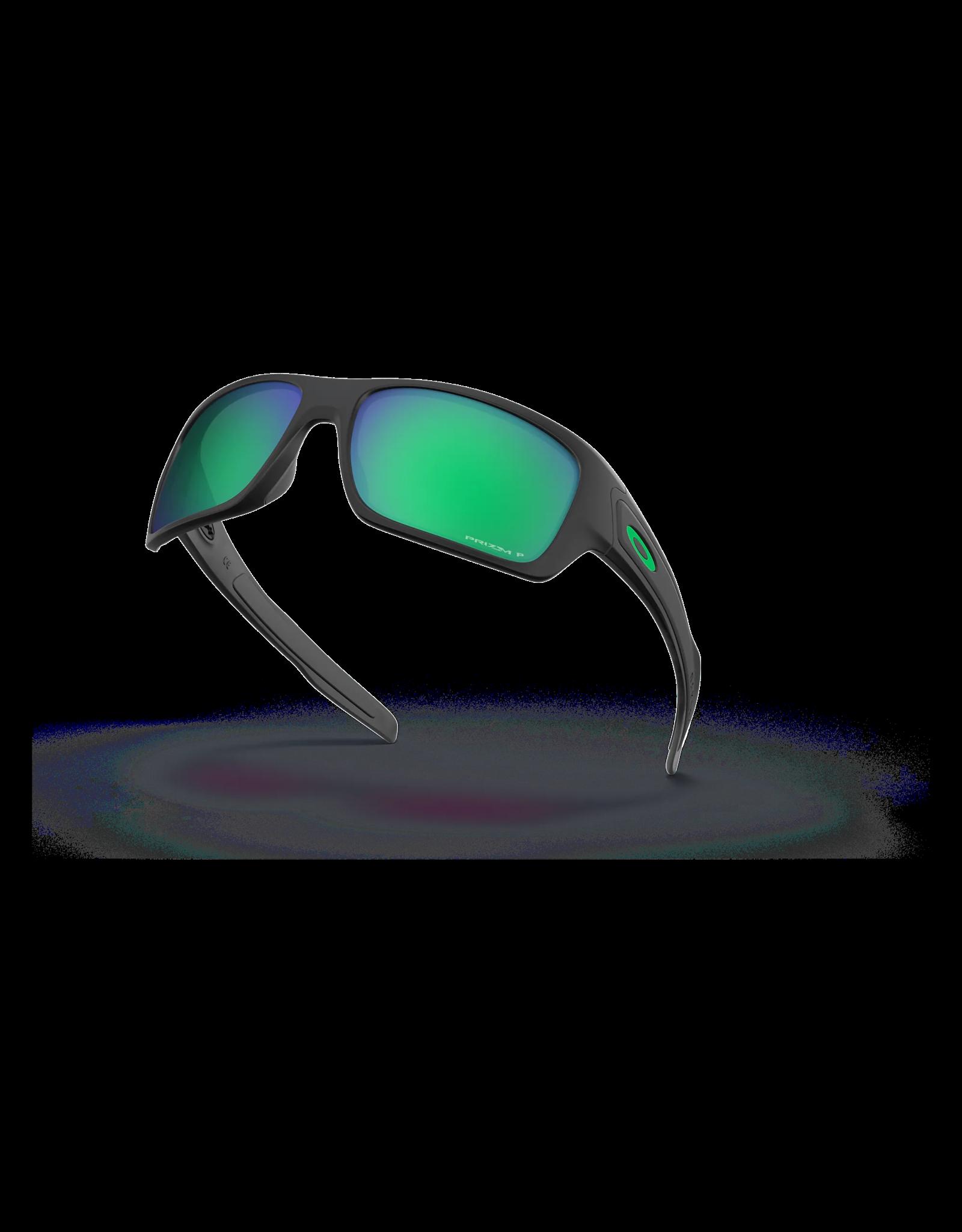 OAKLEY Oakley Turbine matte black prizm jade iridium polarized sun glasses