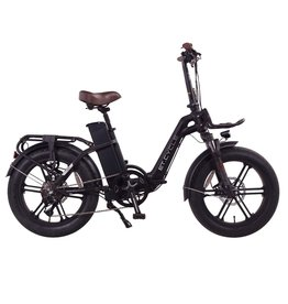 """LEON CYCLE ET.Cycle F720 Electric foldable Fat Bike black 20"""""""