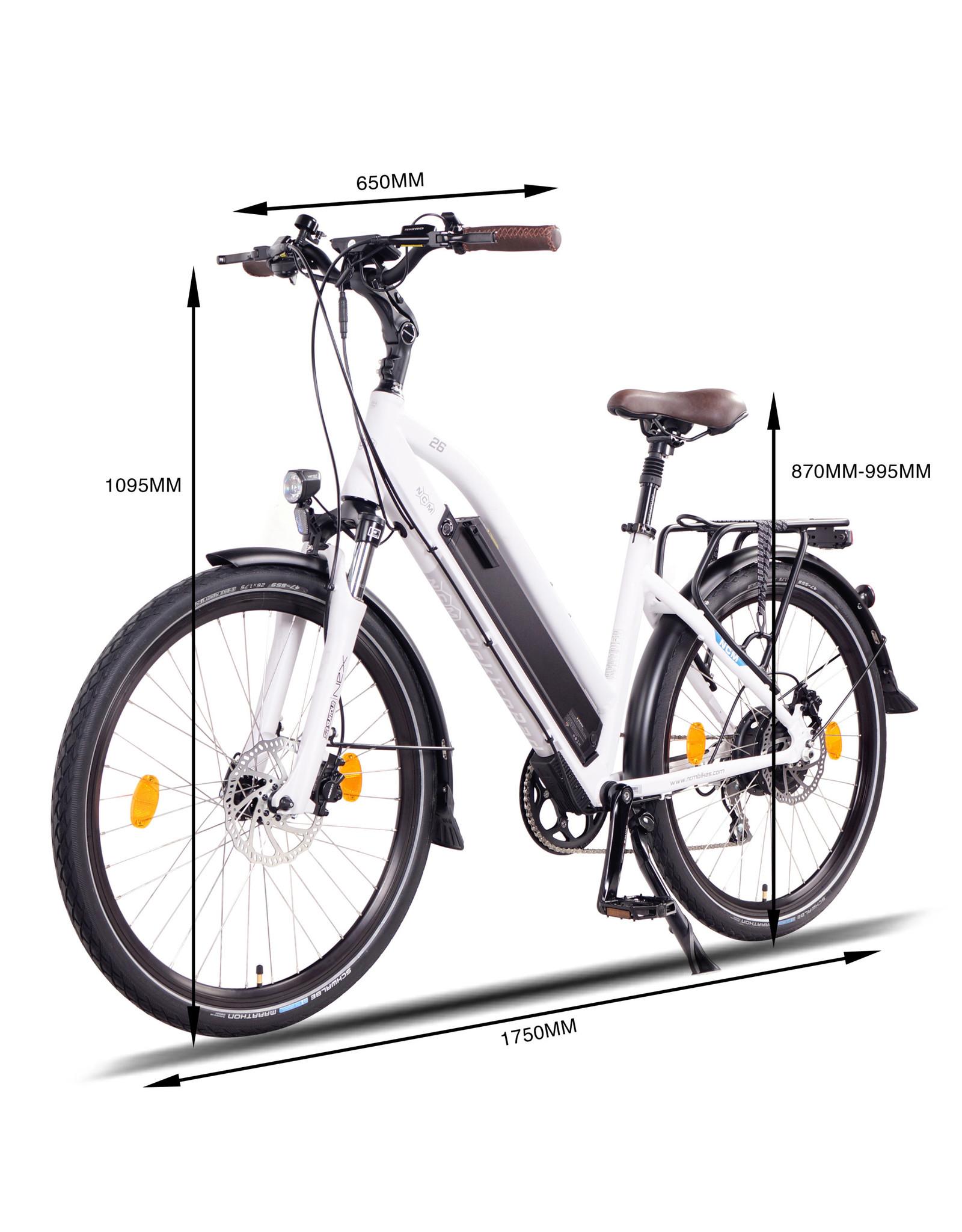 LEON CYCLE Leon Cycle NCM Milano Plus blanc electric hybrid bike
