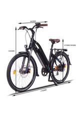 LEON CYCLE Leon Cycle NCM Milano Plus black Electric hybrid bike
