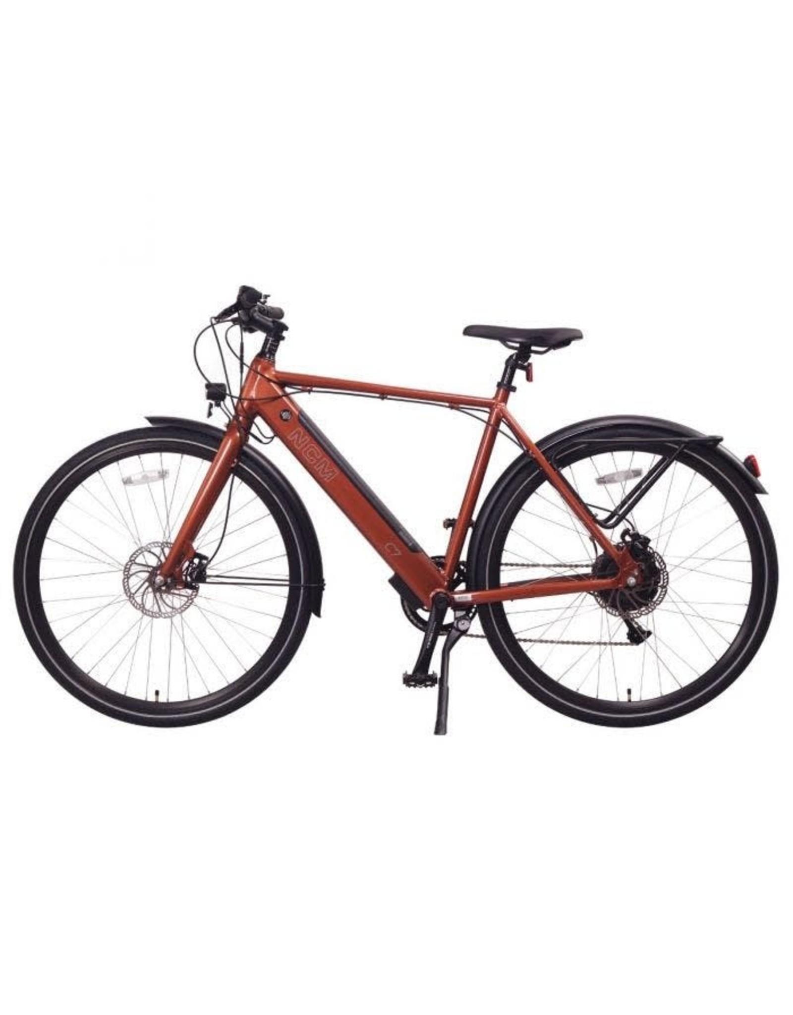 LEON CYCLE Leon Cycle NCM C7 brick red electric hybrid bike