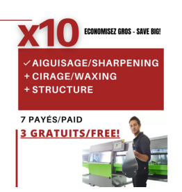 COMBO  X10  SKI SHARPENING+WAXING & STRUCTURE
