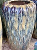 HIGH FIRED CERAMIC LAVA DIAMOND JAR LG