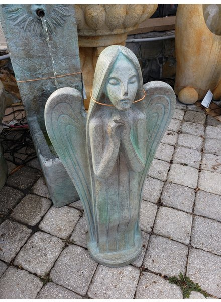 CARVED & CAST STONE FOUNTAINS MODERN ANGEL