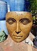 CARVED & CAST STONE SCULPTURE GIANT PORTRAIT OF MOTHER NATURE