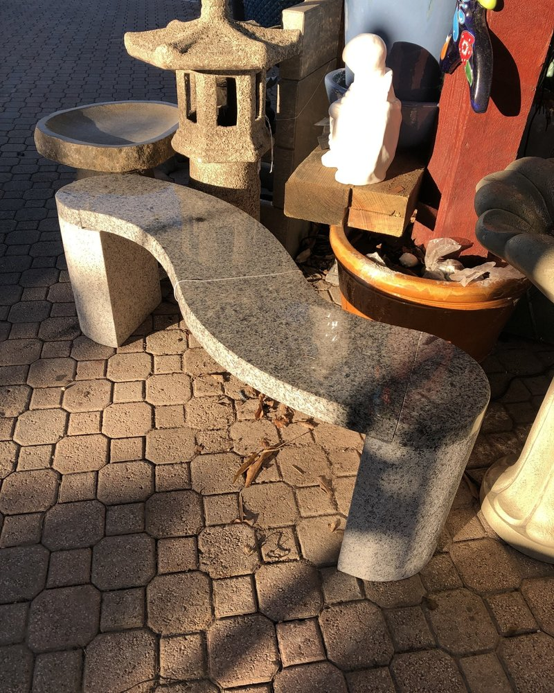 CARVED & CAST STONE BENCHES S GRANITE BENCH