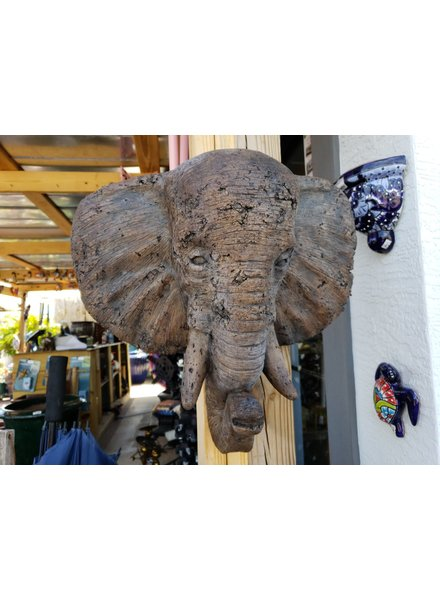 SCULPTURE ELEPHANT WALL PLAQUE