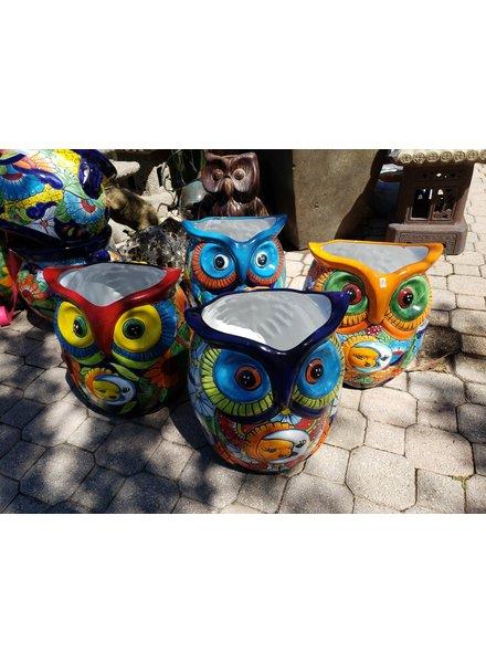 TALAVERA OWL SOL PLANTER LG