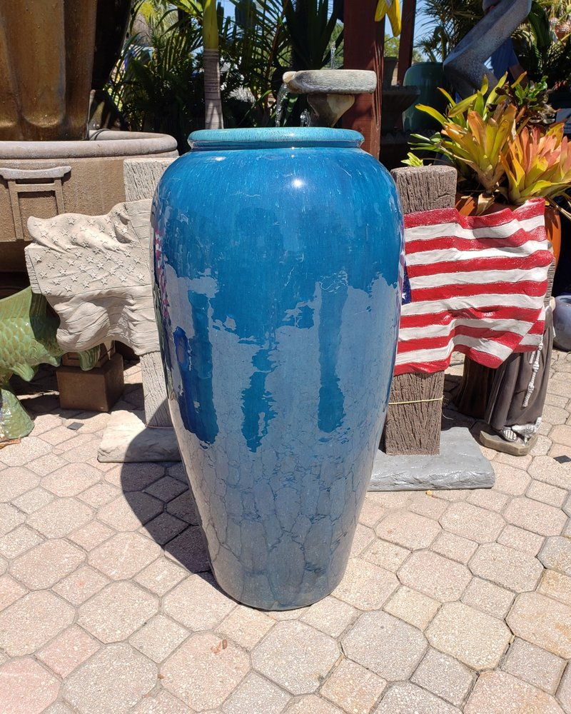 HIGH FIRED CERAMIC LB TROPIC JAR 38