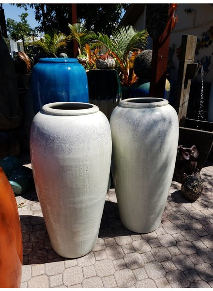 HIGH FIRED CERAMIC TROPIC JAR XL
