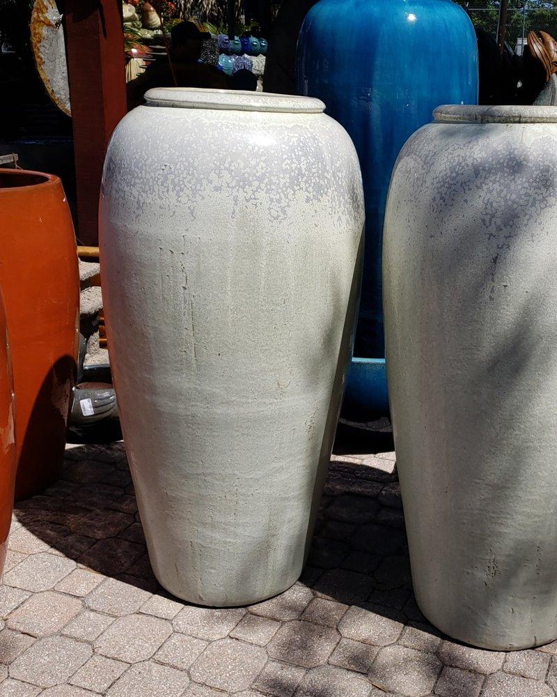 HIGH FIRED CERAMIC TROPIC JAR XL