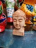 HIGH FIRED CERAMIC PREMIUM BUDDHA HEAD XS