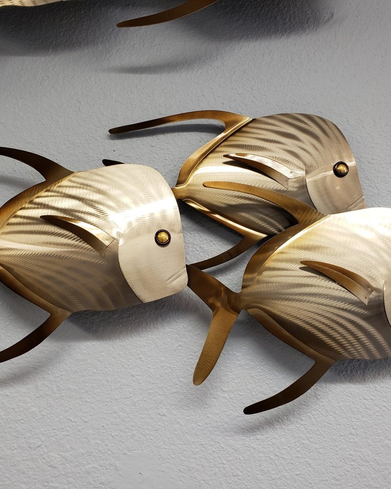 WALL ART LOOKDOWN FISH SET OF 3