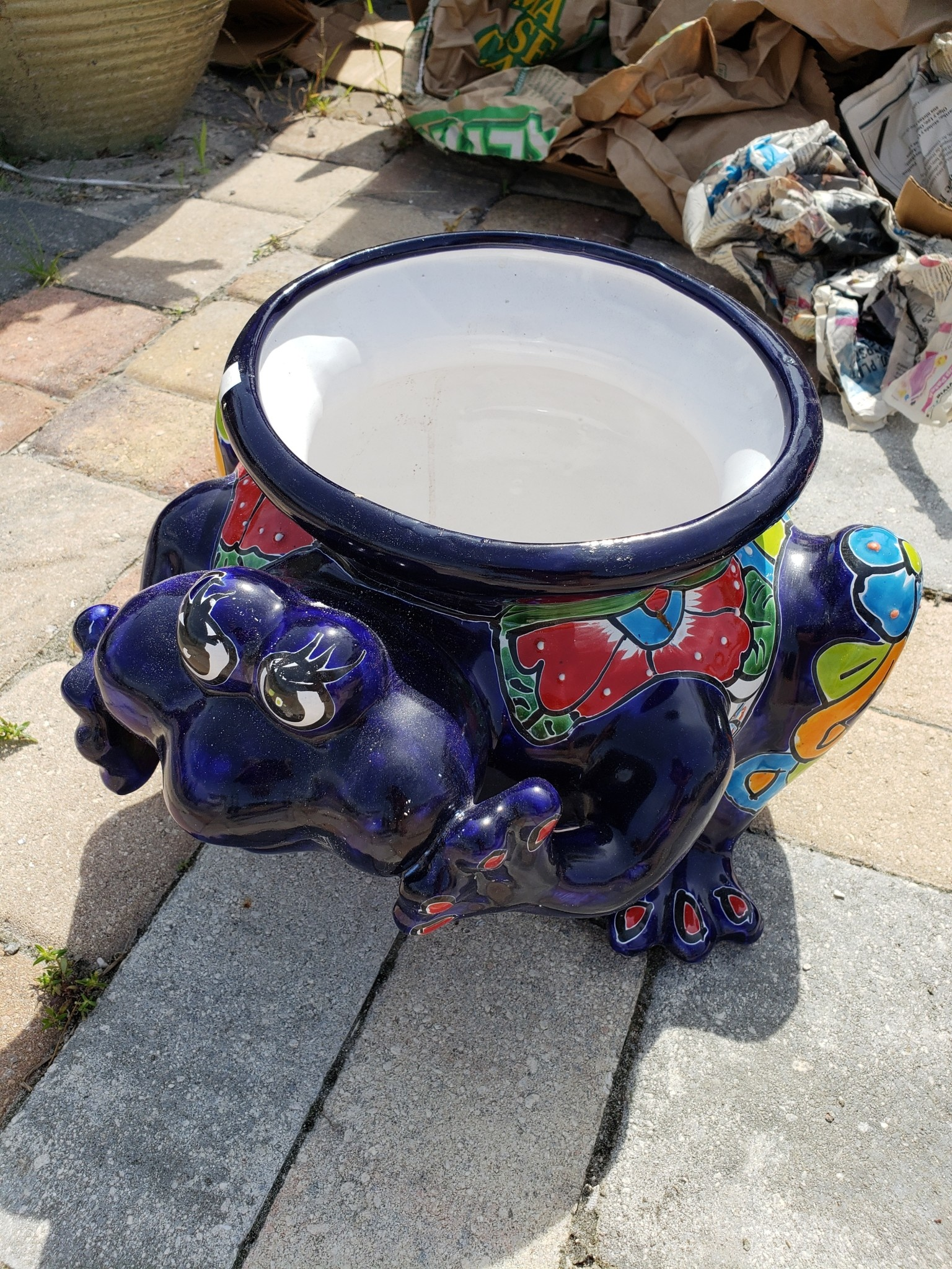 Big Frog Planter Talavera Sm Pottery As Art