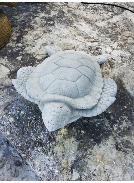 CARVED & CAST STONE SCULPTURE Small Sea Turtle