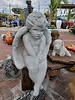 CARVED & CAST STONE SCULPTURE XL SITTING ANGEL