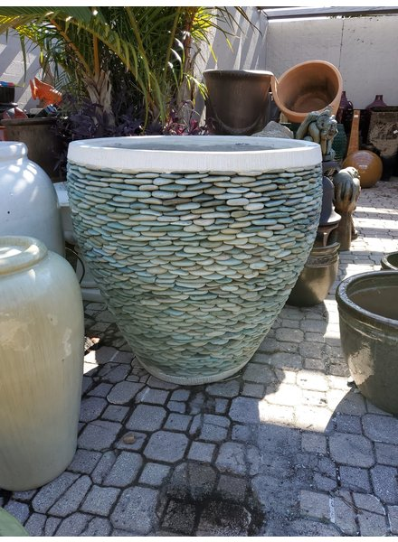 NATURAL STONE NAPLES PEBBLE PLANTER XL
