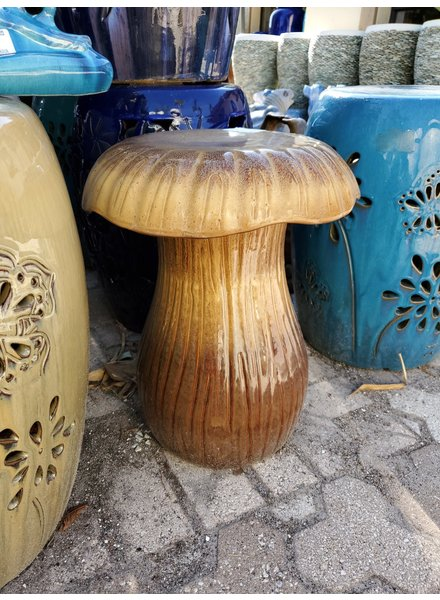 HIGH FIRED CERAMIC MUSHROOM STOOL