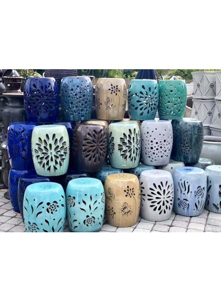 HIGH FIRED CERAMIC PREMIUM GARDEN STOOL