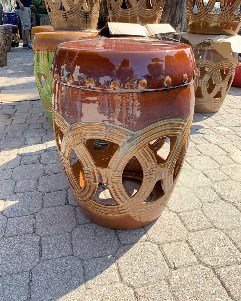 HIGH FIRED CERAMIC LAVA CUTOUT TABLE