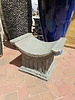 CARVED & CAST STONE BENCHES SCOOP CHAIR/SIDE TABLE PNT