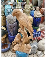 CARVED WOOD CARVED WOOD PARROT