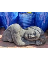 CARVED & CAST STONE SCULPTURE TERRA MATER/ EARTH GODDESS