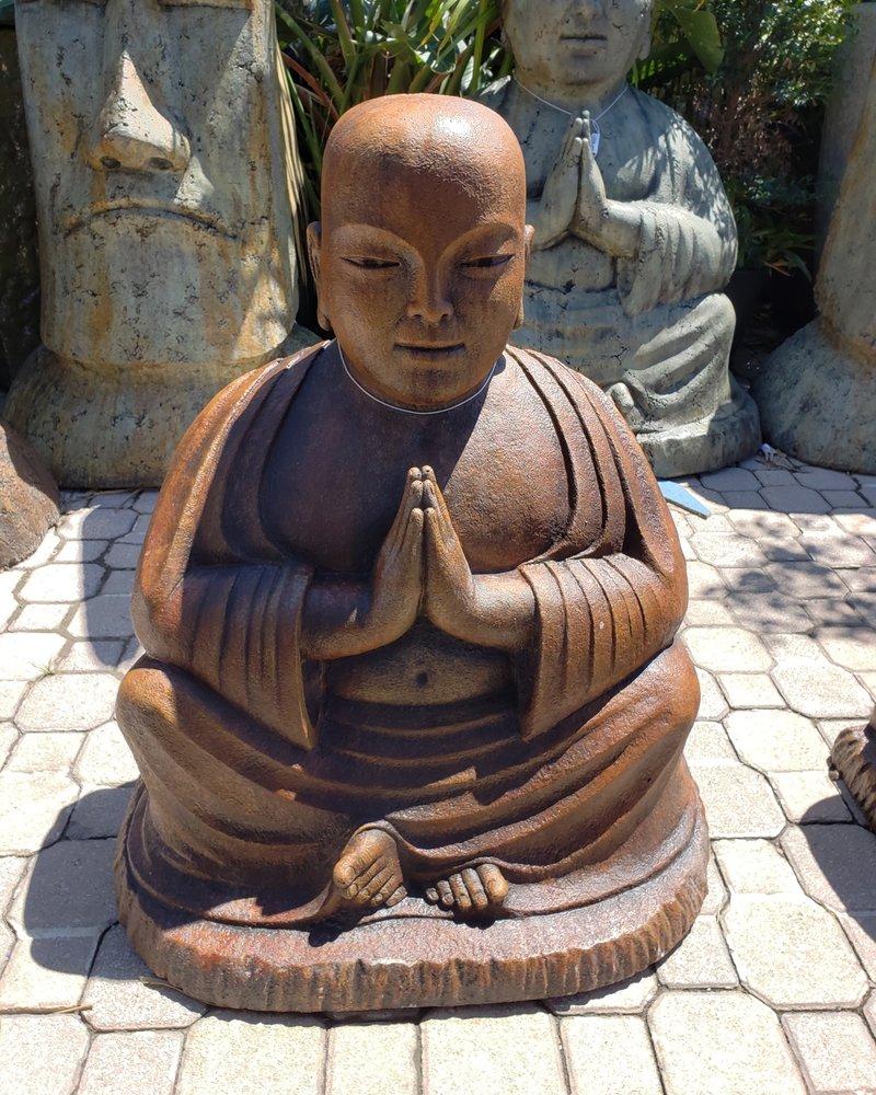 SCULPTURE NAMASTE TEMPLE BUDDHA