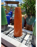 GLAZED CERAMIC FOUNTAINS CONE FOUNTAIN COMPLETE WITH PLASTIC BASIN