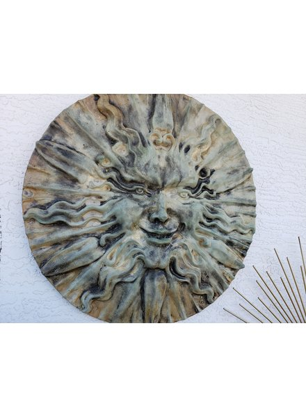 CARVED & CAST STONE SCULPTURE SOL THE SUN CONCRETE