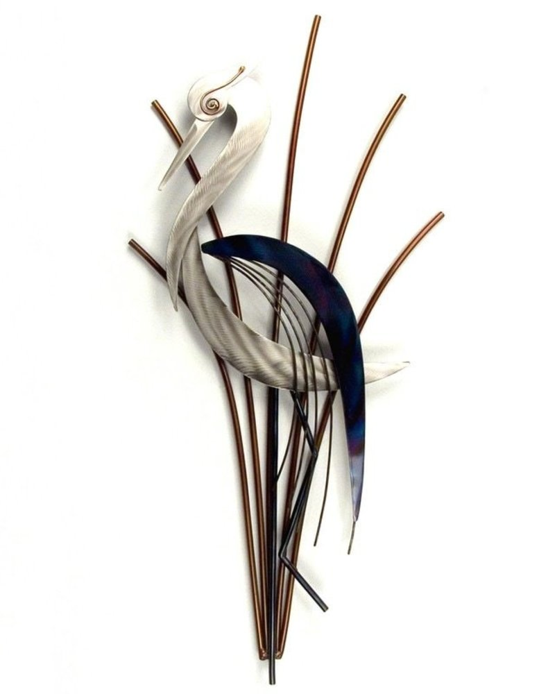 WALL ART ABSTRACT HERON HEAD DOWN