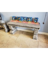 """CARVED & CAST STONE BENCHES NEOCLASSIC BENCH PT 16""""H x 38""""W x 14""""D"""