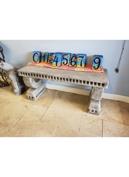 "CARVED & CAST STONE BENCHES NEOCLASSIC BENCH PT 16""H x 38""W x 14""D"