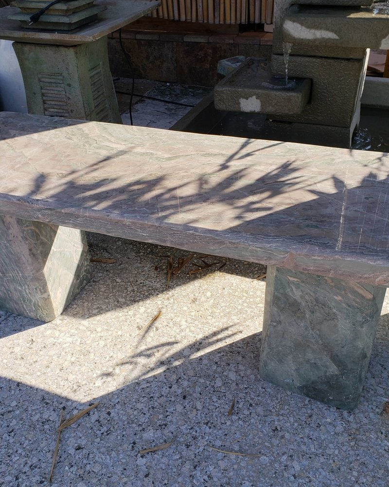 NATURAL STONE OCEAN SURF JADE BENCH