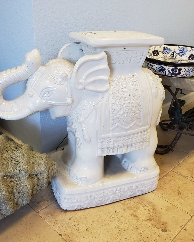HIGH FIRED CERAMIC PREMIUM ELEPHANT STOOL LG