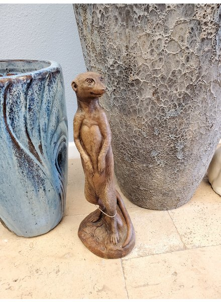 CARVED & CAST STONE SCULPTURE MEERKAT
