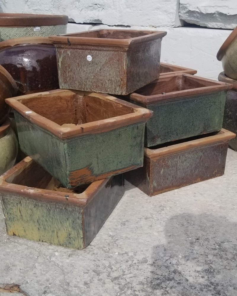 HIGH FIRED CERAMIC RUSTIC LOW RECTANGLE