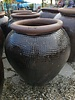 HIGH FIRED CERAMIC RUSTIC WAFFLE URN MD