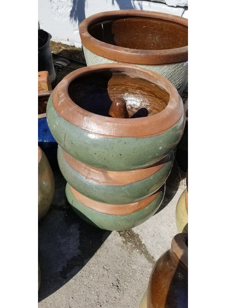 HIGH FIRED CERAMIC RUSTIC HOSE POT