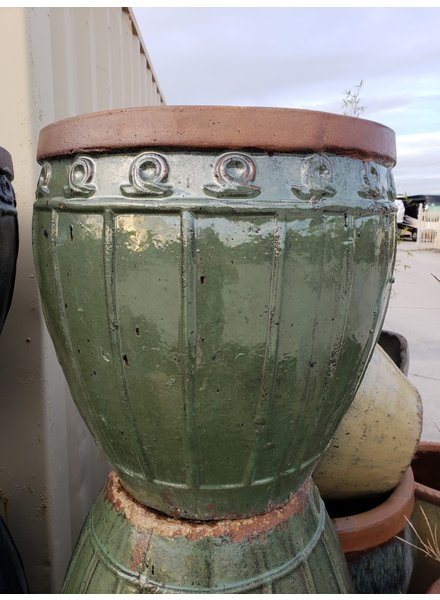 HIGH FIRED CERAMIC RUSTIC CORDOVA URN LG