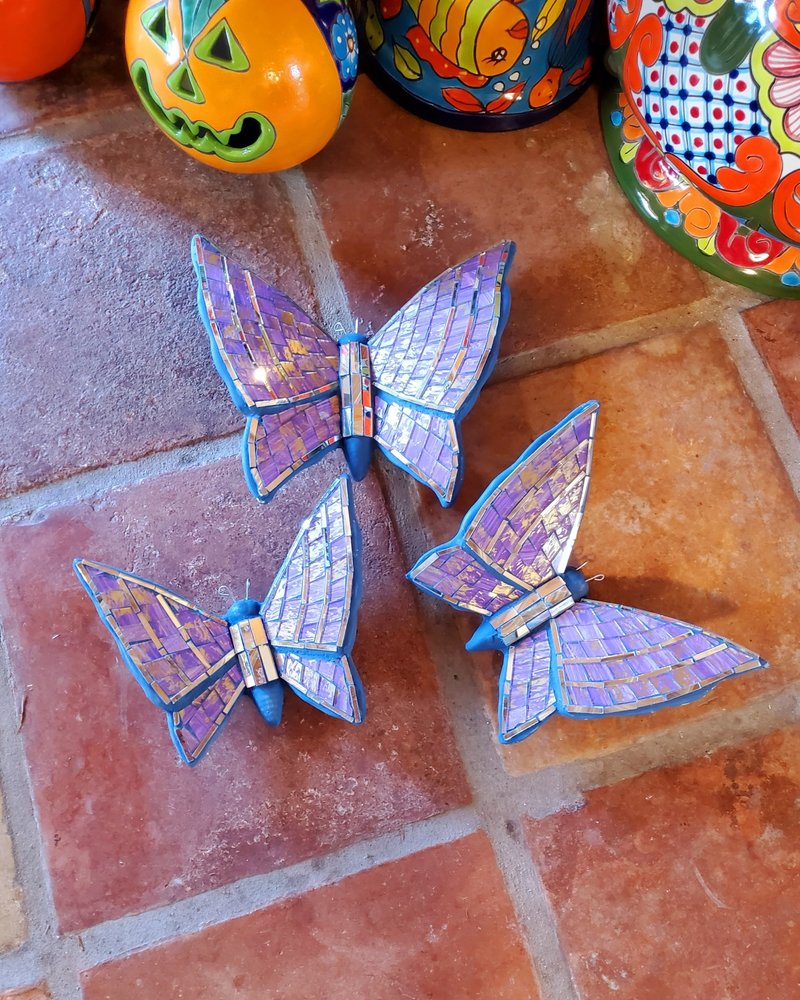 GARDEN ART & ACCESSORIES MOSAIC BUTTERFLY SM