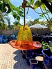 GARDEN ART & ACCESSORIES GLASS BIRD FEEDER