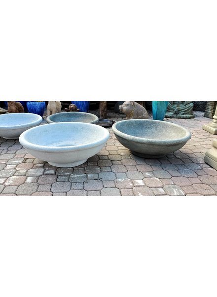SCULPTURE LARGE LOW BOWL PTR
