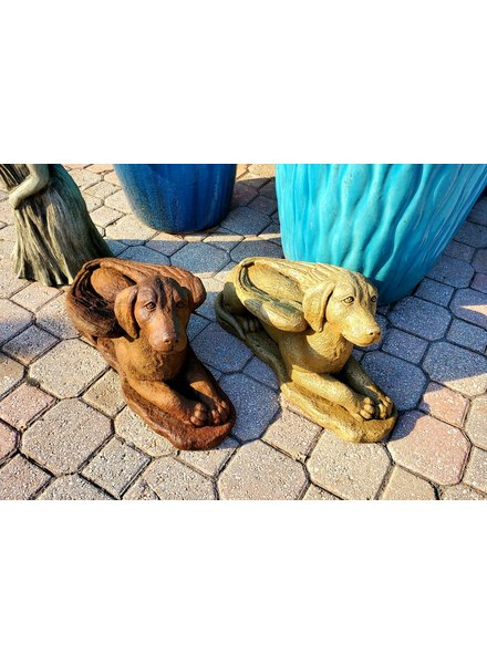 SCULPTURE LAYDOWN GUARDIAN DOG