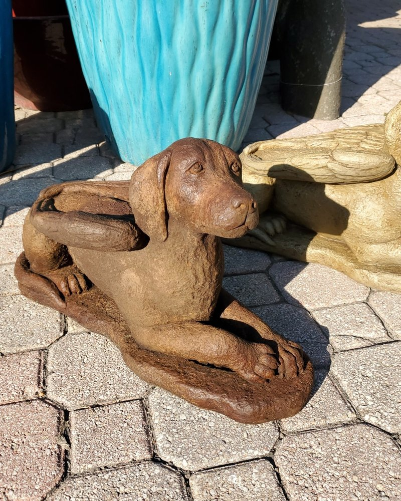 SCULPTURE LAYDOWN GUARDIAN DOG
