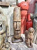 CAST STONE TIKI HEAD- EASTER ISLAND LG