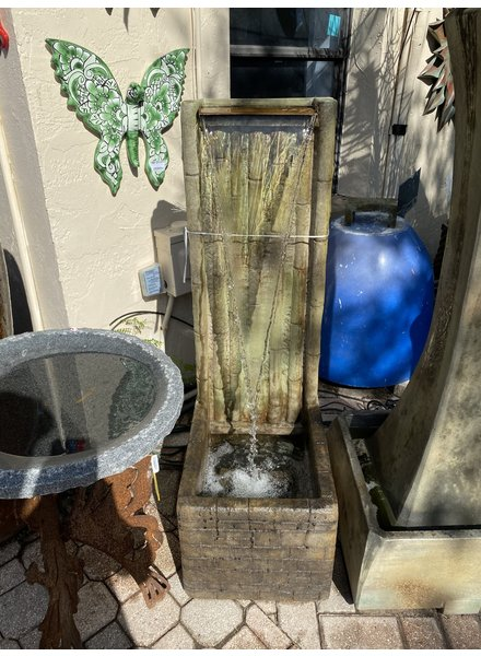 FOUNTAINS BAMBOO WALL FOUNTAIN  RELIC HI-TONE 46H 15W 20D