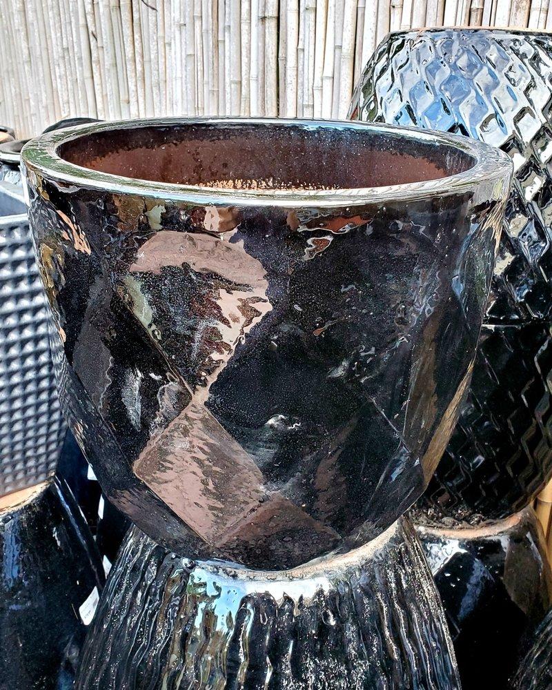 HIGH FIRED CERAMIC LB DIAMOND EGG LG 15