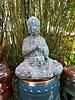 HIGH FIRED CERAMIC BUDDHA STATUE SM